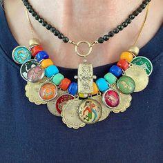Boho Jewellery, Hippie Jewelry, I Love Jewelry, Modern Jewelry, Vintage Jewelry, Jewelry Necklaces, Handmade Jewelry, Beaded Necklace, Jewelry Making