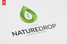 Nature Drop Logo by ft.studio on @creativemarket