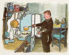 Mr. Jensen & Cat by Lenore Blegvad, illustrated by Erik Blegvad (1965).