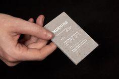 Concrete business card.