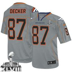 Eric Decker Elite Jersey-80%OFF Nike Lights Out Eric Decker Elite Jersey at Broncos Shop. (Elite Nike Men's Eric Decker Lights Out Grey Super Bowl XLVIII Jersey) Denver Broncos #87 NFL Easy Returns.