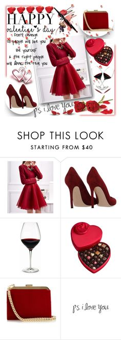 """VALENTINE'S DAY"" by natasa-topalovic ❤ liked on Polyvore featuring Fashion Street, Gianvito Rossi, Holmegaard, Godiva, Balmain, Opinion Ciatti, women's clothing, women, female and woman"