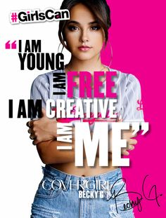 """""""I am young, I am free, I am creative, I am me."""" - COVERGIRL Becky G. shows strength in being herself Love Me Quotes, Fact Quotes, Amazing Quotes, Younique Blush, Blush Tutorial, Colourpop Blush, Love Her Style, My Love, Blush Nails"""