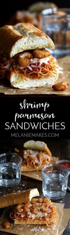 These six ingredient Shrimp Parmesan Sandwiches take just 10 minutes to prepare…