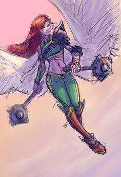 Hawkgirl WIP by JBellio on DeviantArt