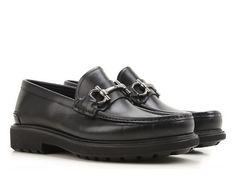 Salvatore Ferragamo men's black leather loafers - Italian Boutique €322