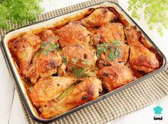 Amazing baked chicken satay — Starts at 60 Pollo Chicken, Chicken Satay, Chicken Thigh Recipes, Baked Chicken Recipes, Recipe Chicken, Easy Cooking, Cooking Recipes, Oven Roasted Chicken, Easy Meals