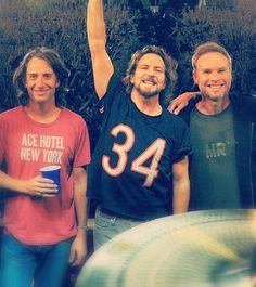 Love this picture of Pearl Jam - Stone - Ed - Jeff