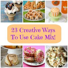 23 Creative Recipes to Whip up with Box Cake Mix #cakemix #easy #recipe #dessert #cake