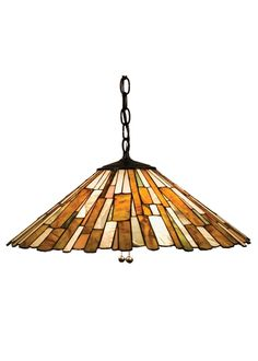 21 Inch W Jadestone Delta Pendant. 21 Inch W Jadestone Delta PendantThinly carved and polished natural Jadestone in earthy tones of Moss Green, Tan, Ivory and Coral,become luminescent in this unique, tile patterned shade. The stone shade is crafted with the same copper foil process that is used on stained glass,Tiffany style shades. A Mahogany Bronze finished canopyand chain completes this handsome pendant. Theme:  DECO Product Family:  Jadestone Delta Product Type:  CEILING...
