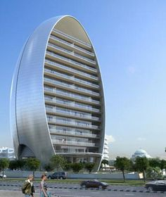 The Oval office building, by Atkins, world architecture. Limassol, Cyprus.