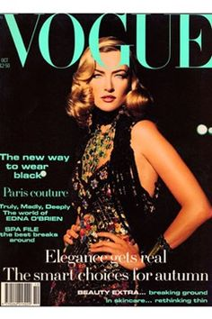 Fashion Magazine Covers - Online Archive for Women (Vogue.com UK) OCTOBER 1992