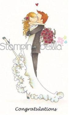 New-Stamping-Bella-Cling-Rubber-Stamp-uptown-girl-BRETT-amp-BRENDA-MARRIED
