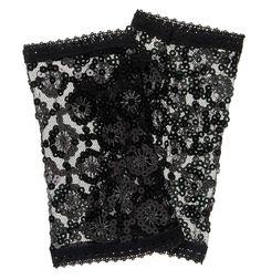 Elly Sequin Fingerless Gloves - Forever New