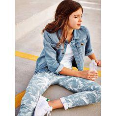 Le jean skinny imprimé associé à des stan smith \u003d look parfait ! Mode Ados  Fille