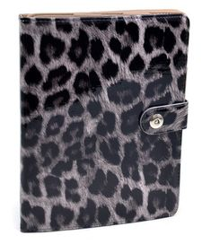Patent Leopard Print iPad Case - Black
