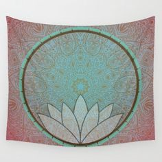 Lotus Mandala Tapestry Wall Hanging Art Meditation Yoga Buddha Hippie