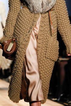 Divine chunky knitted coat - <3 - Michael Kors x