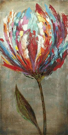 I just LOVE the artistic rendition of this tulip, the mix of colors, the pattern, the tones, everything