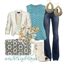 Blue and cream #outfit