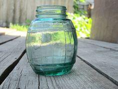 1970s Soviet Kitchen Glass jar Cask Vat Bank glass  barrel