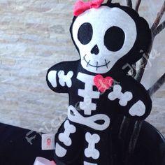 Skeleton  felt cute  Caveira de feltro