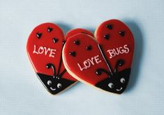 Hand Decorated Valentines Day Ladybug Love Bug Cookies | Flickr - Photo Sharing!