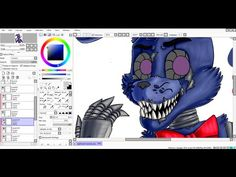 [SpeedPaint] Nightmare Bonnie (remake) (Five Nights at Freddy's 4) - YouTube