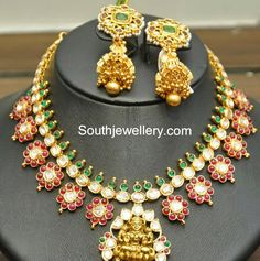Beautiful Polki Ruby Necklace