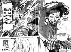 My Hero Academia Manga Panel ~ Mr.Compress Face Reveal Boku No Hero Academia, My Hero Academia Manga, Manga Oku, Manga Anime, Anime Art, Body Reference Drawing, Art Reference, Joker, Face Reveal