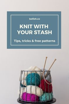 Free patterns for knitting with your yarn stash – Knitting patterns, knitting designs, knitting for beginners. Dishcloth Knitting Patterns, Loom Knitting, Knitting Stitches, Free Knitting, Knit Dishcloth, Quick Knits, Knitting Accessories, Knit Or Crochet, Pulls