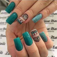 Clique na Foto e Receba o Curso Profissional de Unhas de Gel, Acrigel e de Fibra. Chic Nails, Stylish Nails, Trendy Nails, Creative Nail Designs, Acrylic Nail Designs, Nail Art Designs, Country Nails, Gel Nails, Nail Polish