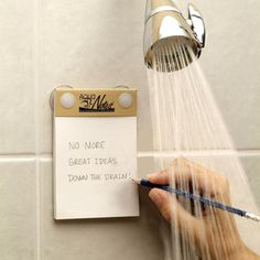 Waterproof Shower Notepads- it is where may of us do our best thinking!