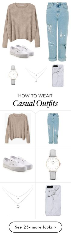 """""""Casual"""" by madisonlamb20 on Polyvore featuring MANGO, Vans and CLUSE"""
