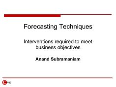 forecasting-techniques by guest865c0e0c via Slideshare