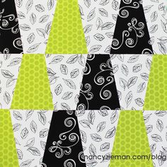 Tumbler Block | November Block of the Month | 2015 Adventure Quilt by Nancy Zieman