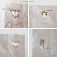 botanical button sampler details