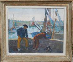 GEORGES  STREIB (1869-1940)  le port  vers 1920, Galerie Patrick Boutillier, Proantic