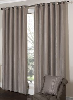 Tibey Taupe Ready Made Eyelet Curtains   Eyelet Curtains   Curtains   linen4less.co.uk