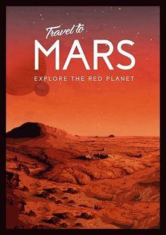Travel to Mars Space Tourism, Space Travel, Retro Futuristic, Futuristic Design, Science Fiction Art, Pulp Fiction, Nasa Posters, Space Posters, Tourism Poster