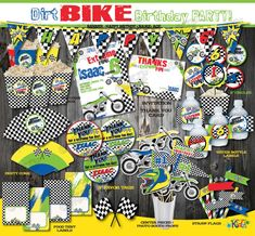 On sale Dirt Bike Birthday PackageDirt Bike by ItsAllAboutKidz
