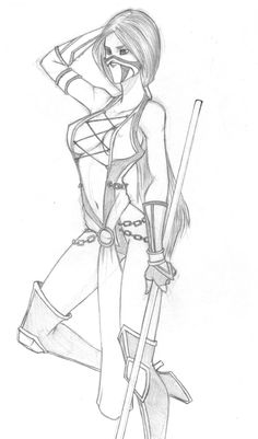 mortal kombat coloring pages | Mortal Kombat Jade by silentninja-1991