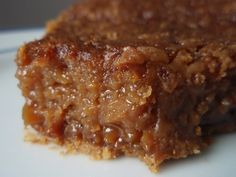 Brown sugar pie.  Basically just a pecan pie without the pecans.  I think I need to try it