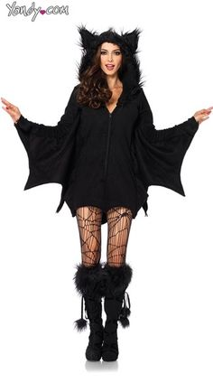 Purchase bat costumes like this Fleece Bat Costume at Yandy! #Yandy