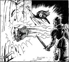 "Bigby's Battering Gauntlet, level Evocation spell. (Jeff Easley from AD&D Greyhawk Adventures by James M Ward, TSR, ""Spells like Drawmij's Instant Stripping and Otto's Gelatinous Cube. Fantasy Drawings, Fantasy Artwork, M Ward, Pen And Paper Games, Classic Rpg, Dungeon Master's Guide, Advanced Dungeons And Dragons, Dream Fantasy, Silver Age"
