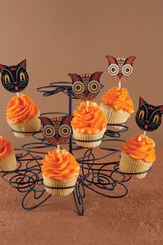 Spirited Creations Download, and print out the cupcake picks
