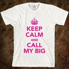 Big Sis Lil Sis Reveal - Keep Calm And Call My Big