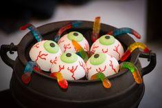 Olhos comestíveis na decoração assombrada