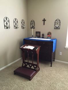 My chapel.  Also known as the War Room!