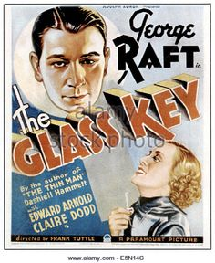 THE GLASS KEY, top left: George Raft, bottom right: Claire Dodd, 1935. - Stock Image